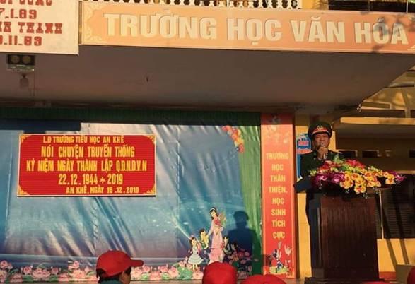 Tiểu học An Khê chào mừng 75 năm ngày thành lập QĐND Việt Nam