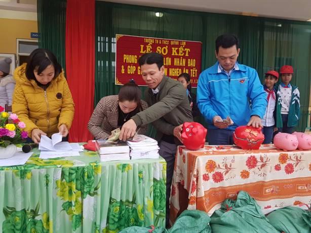 """TH & THCS Quỳnh Lâm hưởng ứng phong trào """"Giúp bạn nghèo ăn Tết"""""""
