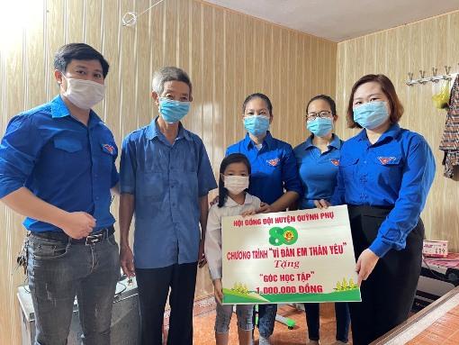 Huyện đoàn Quỳnh Phụ: Hưởng ứng Ngày cao điểm Chiến dịch Hoa Phượng đỏ năm 2021